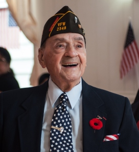 Rocco all smiles at the VFW 2348 renaming ceremony.