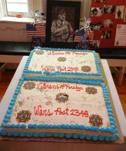 Cakes celebrating the newly renamed VFW Post.