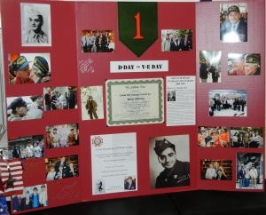 A poster of Rocco's military career was displayed at the renaming ceremony.