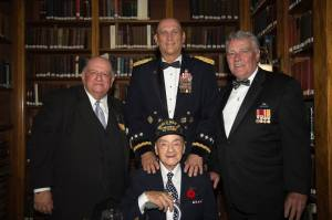 Rocco with General Odierno from the 2014 Army Week Gala, with Pat Gualtieri and Vince McGowan of the United War Veterans Council.
