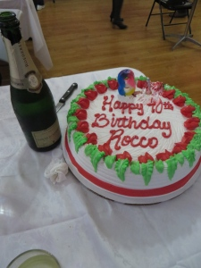 Rocco's 90th Birthday Cake and Champagne